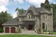 European Style House Plan - 3 Beds 2.5 Baths 3345 Sq/Ft Plan #138-131 Exterior - Front Elevation