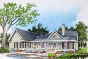 Farmhouse Style House Plan - 3 Beds 2.5 Baths 1929 Sq/Ft Plan #929-1046 Exterior - Rear Elevation