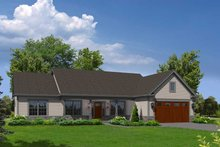 Ranch Exterior - Front Elevation Plan #57-623