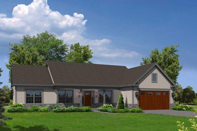 Ranch Exterior - Front Elevation Plan #57-623 - Houseplans.com