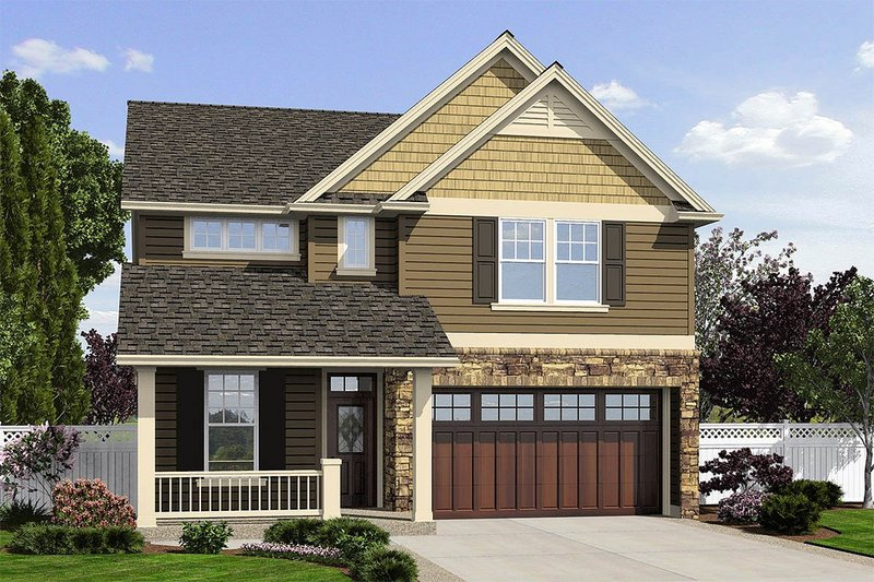 Home Plan - Traditional Exterior - Front Elevation Plan #48-501