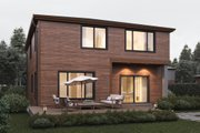 Contemporary Style House Plan - 4 Beds 2.5 Baths 2796 Sq/Ft Plan #1066-7 Exterior - Rear Elevation