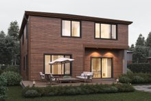 Contemporary Exterior - Rear Elevation Plan #1066-7