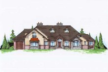 Home Plan - Country Exterior - Front Elevation Plan #5-416