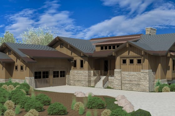 Craftsman Exterior - Front Elevation Plan #920-25