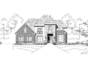 European Exterior - Front Elevation Plan #411-364