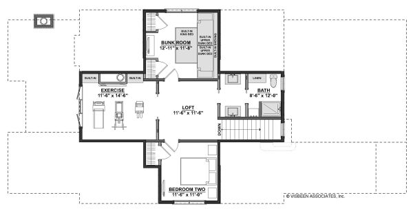 Farmhouse Floor Plan - Upper Floor Plan Plan #928-344