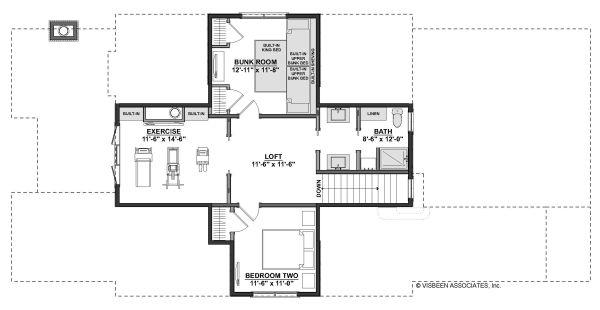 Farmhouse Floor Plan - Upper Floor Plan #928-344