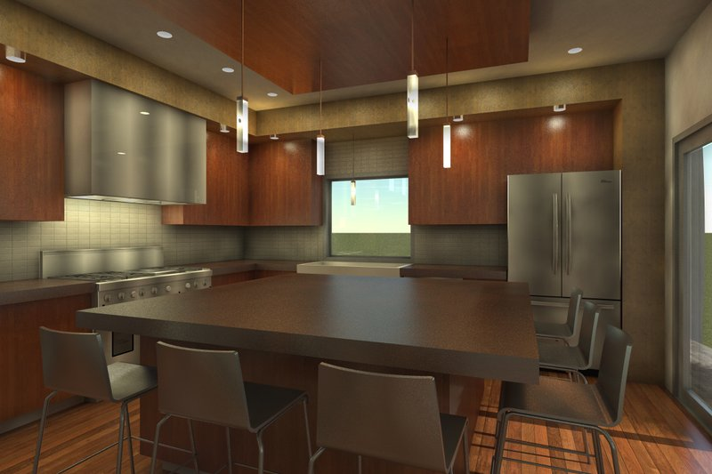 Modern Interior - Kitchen Plan #64-234 - Houseplans.com