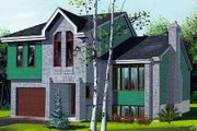 Modern Style House Plan - 3 Beds 1.5 Baths 1418 Sq/Ft Plan #25-4248 Exterior - Front Elevation
