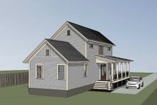 Country Exterior - Rear Elevation Plan #79-270