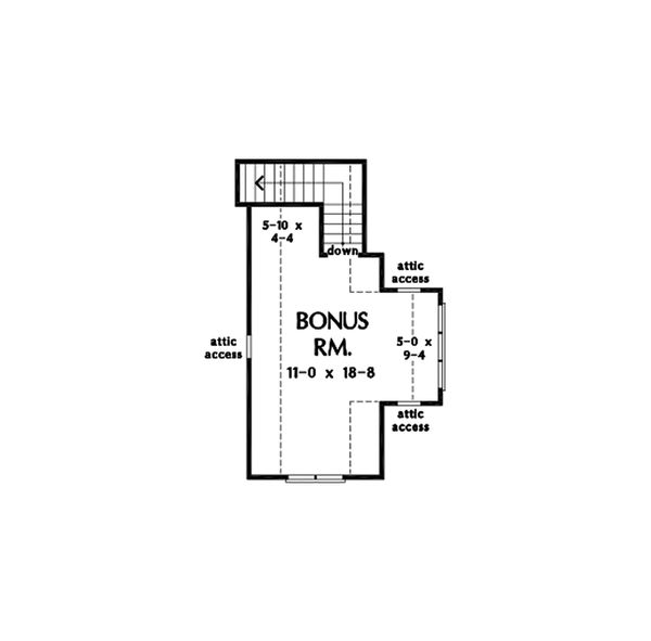 Cottage Floor Plan - Upper Floor Plan Plan #929-1084