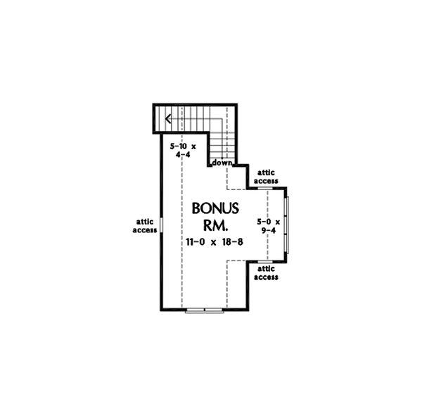 Cottage Floor Plan - Upper Floor Plan #929-1084