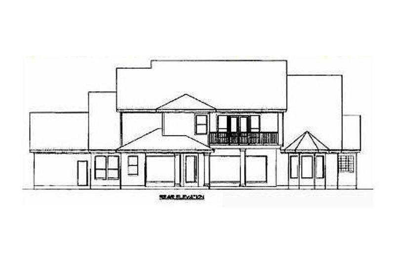 Country Exterior - Rear Elevation Plan #61-131 - Houseplans.com