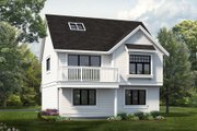 Country Style House Plan - 1 Beds 1 Baths 1551 Sq/Ft Plan #47-1079 Exterior - Front Elevation