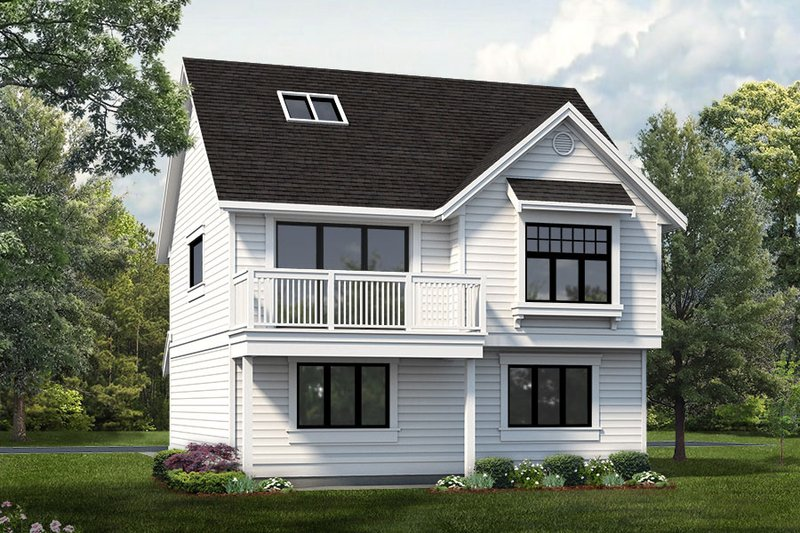 House Blueprint - Country Exterior - Front Elevation Plan #47-1079