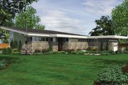 Modern Style House Plan - 3 Beds 2.5 Baths 2498 Sq/Ft Plan #48-561 Exterior - Rear Elevation