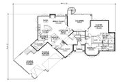 Mediterranean Style House Plan - 5 Beds 4.5 Baths 2398 Sq/Ft Plan #5-357 Floor Plan - Main Floor Plan