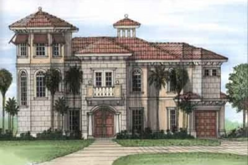 Beach Style House Plan - 3 Beds 3.5 Baths 2610 Sq/Ft Plan #115-146 Exterior - Front Elevation