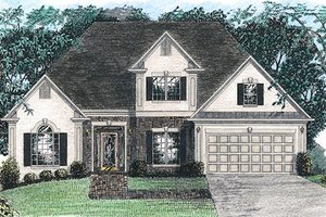 European Exterior - Front Elevation Plan #56-144