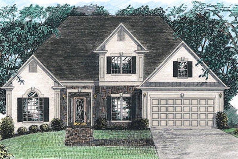 House Design - European Exterior - Front Elevation Plan #56-144