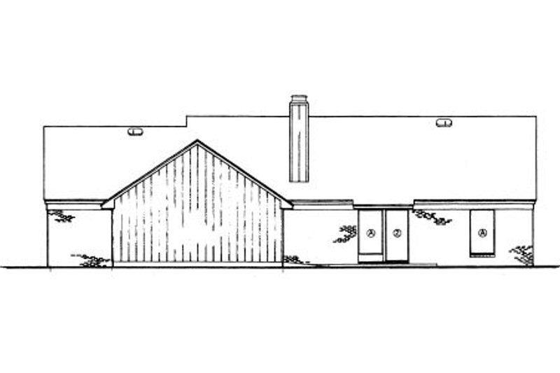 Country Exterior - Rear Elevation Plan #45-326 - Houseplans.com