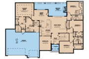 Traditional Style House Plan - 5 Beds 4 Baths 3264 Sq/Ft Plan #923-64 Floor Plan - Main Floor Plan