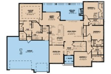 Traditional Floor Plan - Main Floor Plan Plan #923-64