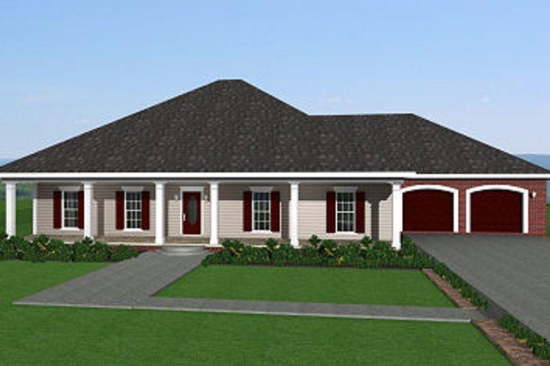 Southern Style House Plan - 3 Beds 2 Baths 2091 Sq/Ft Plan #44-143