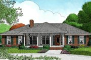 Ranch Style House Plan - 3 Beds 2.5 Baths 1698 Sq/Ft Plan #11-109 Exterior - Front Elevation