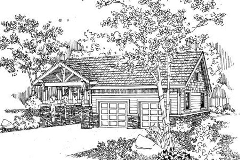 Craftsman Exterior - Front Elevation Plan #124-658