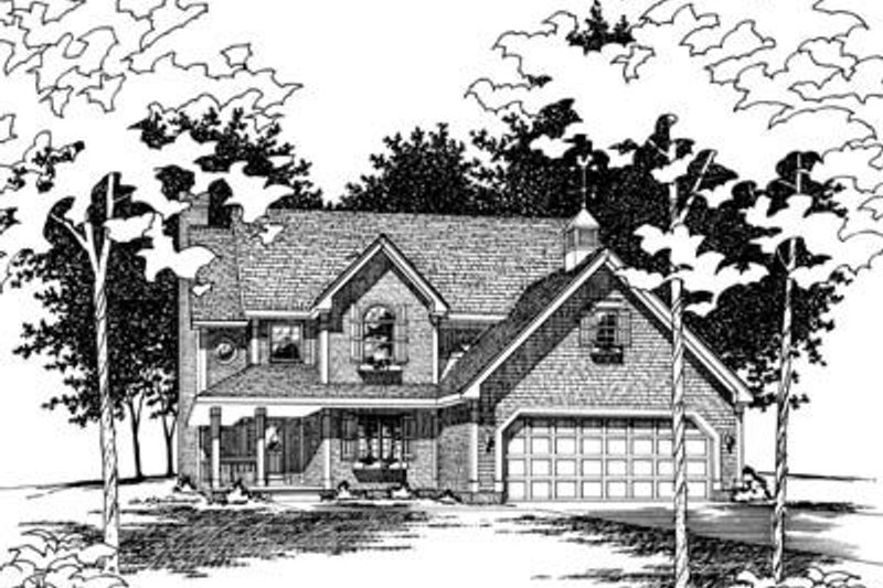 Traditional Exterior - Front Elevation Plan #20-543 - Houseplans.com