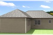 Craftsman Style House Plan - 4 Beds 2 Baths 1612 Sq/Ft Plan #44-179 Exterior - Rear Elevation