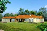 Mediterranean Style House Plan - 5 Beds 5 Baths 4528 Sq/Ft Plan #80-213 Exterior - Rear Elevation