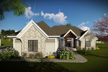 Craftsman Exterior - Front Elevation Plan #70-1481