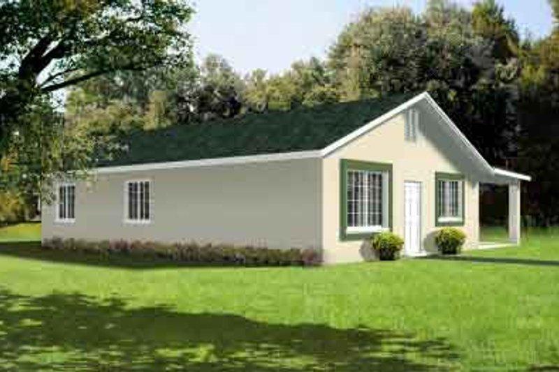 Adobe / Southwestern Style House Plan - 3 Beds 2 Baths 1176 Sq/Ft Plan #1-189