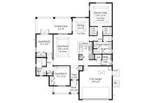 Country Floor Plan - Main Floor Plan Plan #938-3