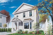 Home Plan - European Exterior - Front Elevation Plan #23-2103