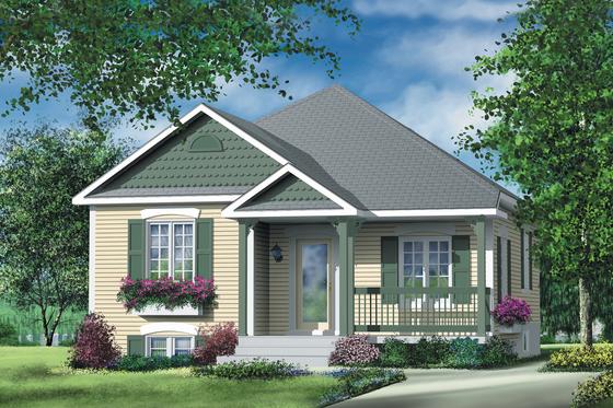 Cottage Exterior - Front Elevation Plan #25-130