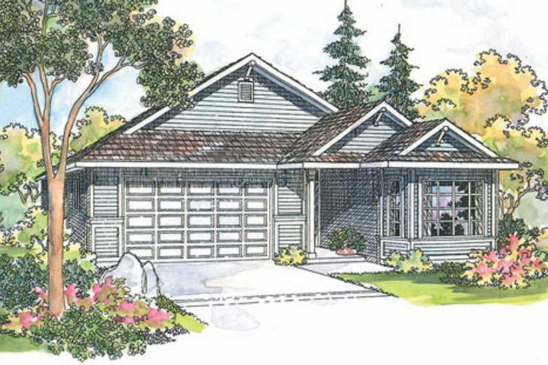 Traditional Exterior - Front Elevation Plan #124-358 - Houseplans.com