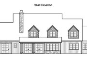 Traditional Style House Plan - 5 Beds 4.5 Baths 4619 Sq/Ft Plan #490-10 Exterior - Rear Elevation