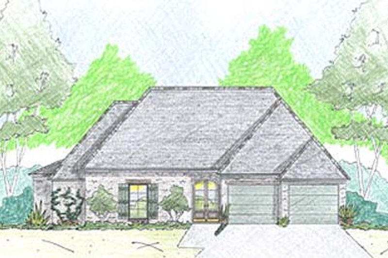 European Exterior - Front Elevation Plan #36-458