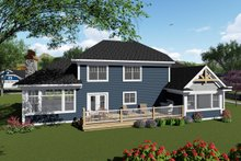 Craftsman Exterior - Rear Elevation Plan #70-1428
