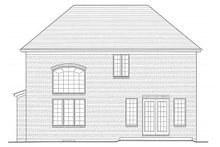 Home Plan - Traditional Exterior - Rear Elevation Plan #46-493