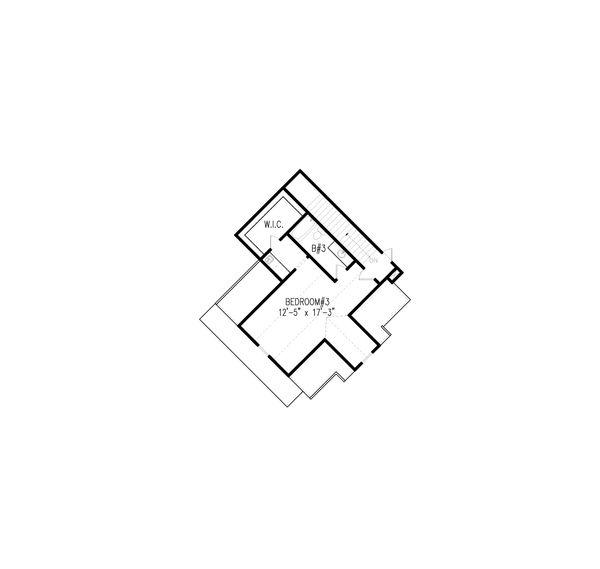 Craftsman Floor Plan - Upper Floor Plan #54-405