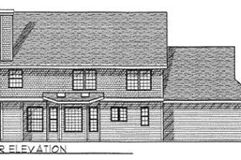 Country Exterior - Rear Elevation Plan #70-398 - Houseplans.com