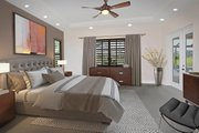 Mediterranean Style House Plan - 4 Beds 3 Baths 2953 Sq/Ft Plan #938-90 Interior - Master Bedroom