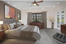 House Plan Design - Mediterranean Interior - Master Bedroom Plan #938-90