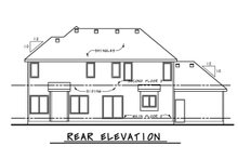 House Plan Design - Craftsman Exterior - Rear Elevation Plan #20-2328