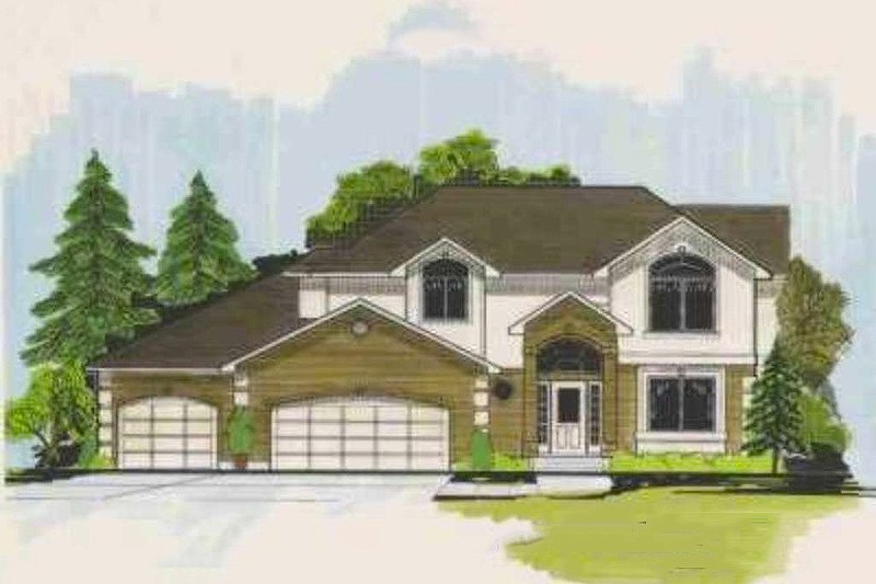 Traditional Exterior - Front Elevation Plan #308-124 - Houseplans.com